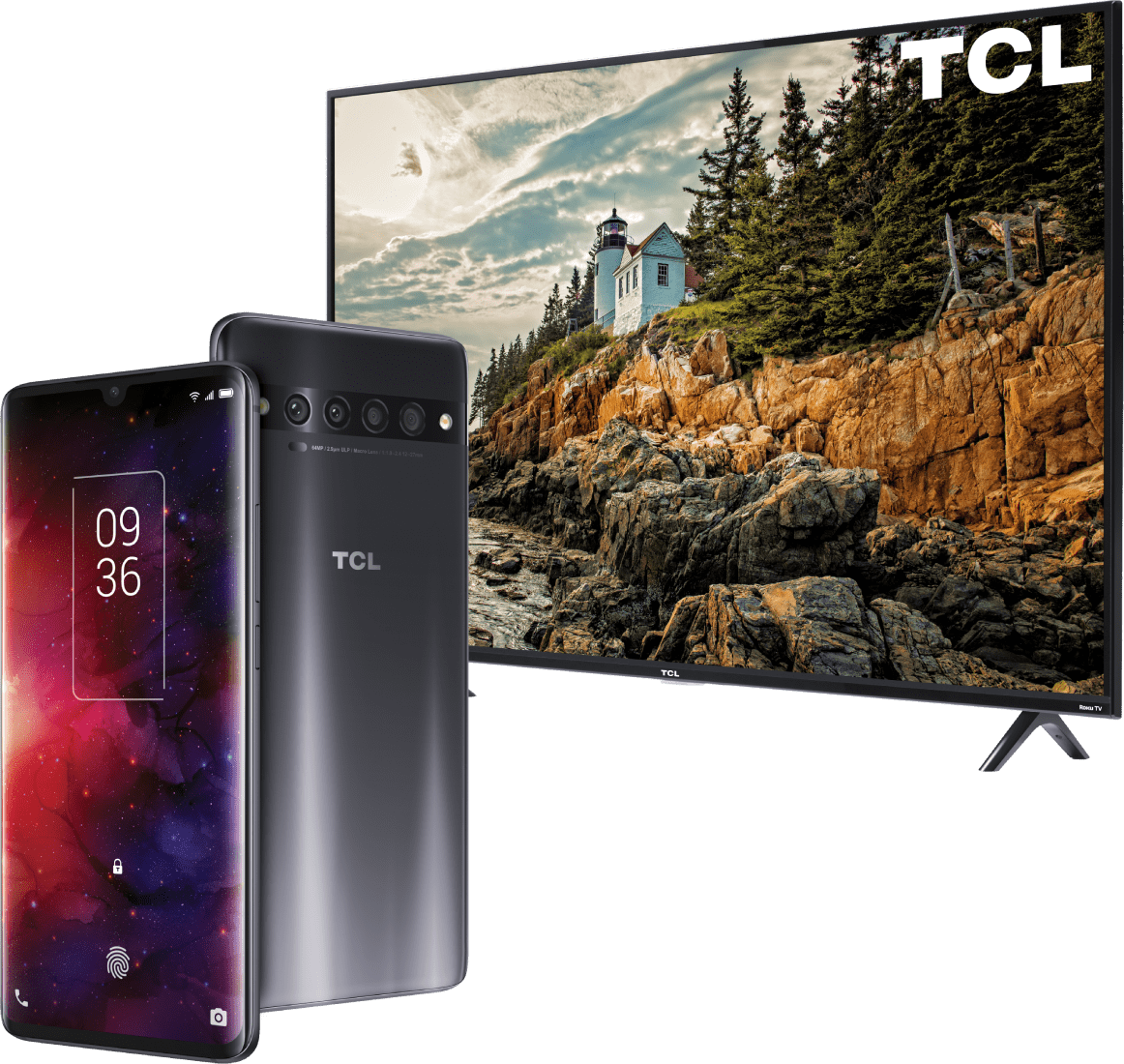 "Score a free 43"" TCL 4K Smart TV when you get the new TCL 10 Pro."