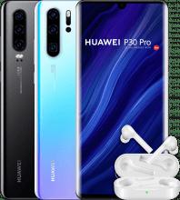 Huawei P30 with Huawei FreeBuds