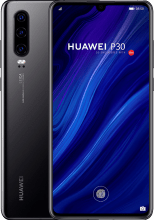 HUAWEI P30 black back to back