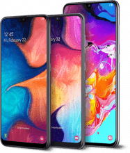 Samsung A20, A50 and A70