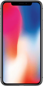 iPhone X space grey front