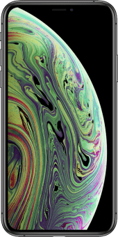 iPhone Xs space grey front