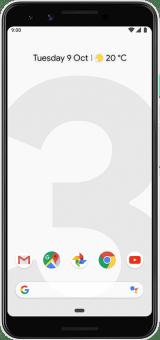 Pixel 3 white front