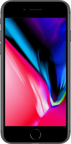 iPhone 8 space grey front