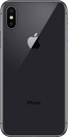 iPhone X space grey back