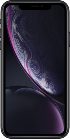 iPhone XR black front