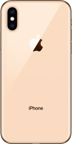 iPhone Xs gold back