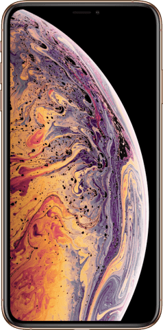 iPhone Xs Max gold front