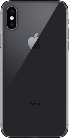 iPhone Xs space grey back