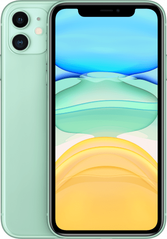 iPhone 11 Green back to back