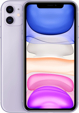 iPhone 11 Purple back to back