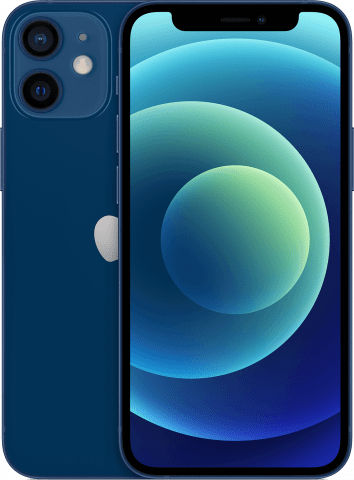 iPhone 12 mini blue back to back