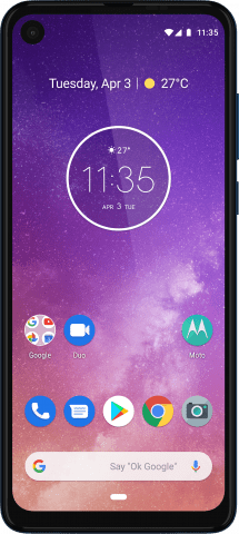 motorola one vision front