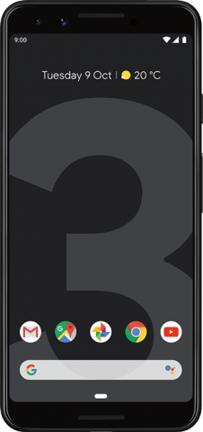 Pixel 3 Black front