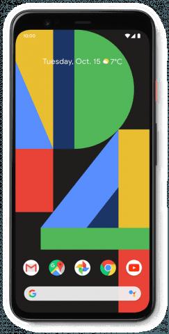Google Pixel 4 white front
