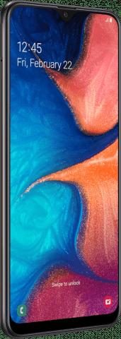 Samsung Galaxy A20 angled