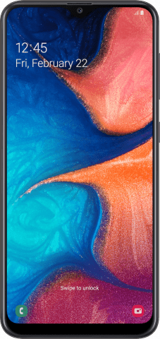 Samsung Galaxy A20 front