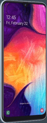 Samsung Galaxy A50 angled