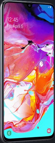 Samsung Galaxy A70 angled