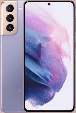 Samsung galaxy S21 phantom violet frontback