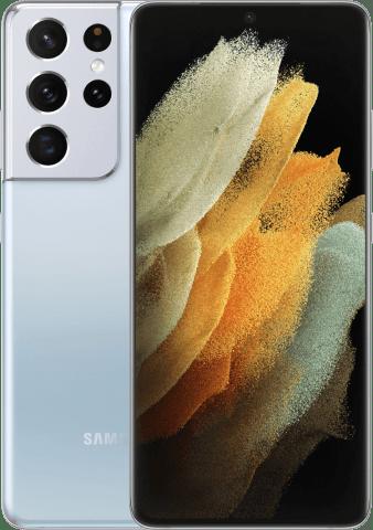 Samsung Galaxy S21 Ultra Phantom silver frontback