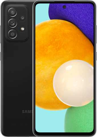 Samsung Galaxy A52 front and back